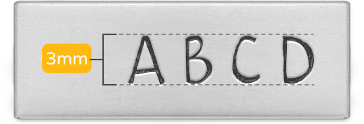 Metal Letter Stamp Guide